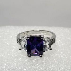 5.99ct Alexandrite 14K WG Diamond Ring Size 8.